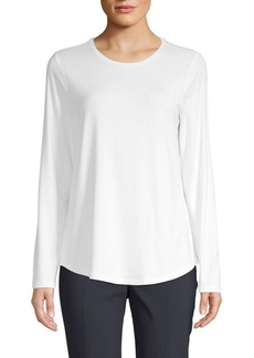 Saks Fifth Avenue Crewneck Long-Sleeve Top