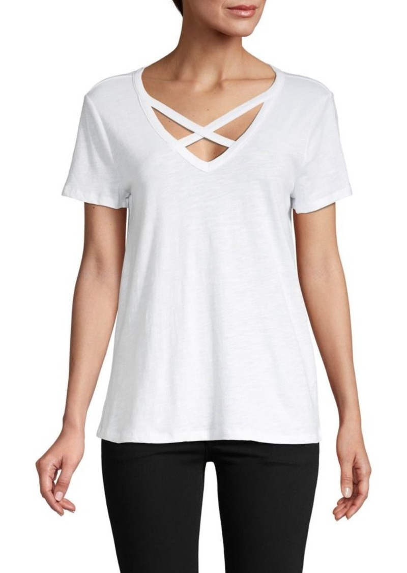 Saks Fifth Avenue Criss-Cross Cage T-Shirt