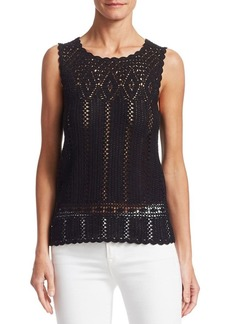 Saks Fifth Avenue COLLECTION Crochet Cotton Top