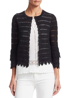 Saks Fifth Avenue COLLECTION Crochet Knit Cardigan
