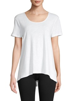 Saks Fifth Avenue Cutout High-Low Tee