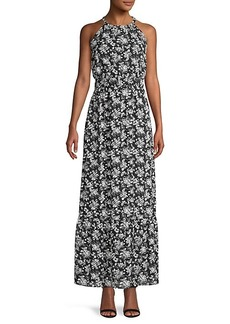 Saks Fifth Avenue Dobby Floral Blouson Maxi Dress