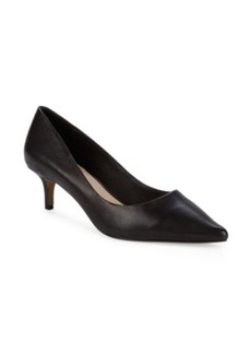 Saks Fifth Avenue Donata Kitten-Heel Leather Pumps