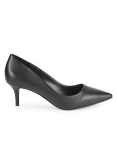 Saks Fifth Avenue Donna Leather Kitten-Heel Pumps