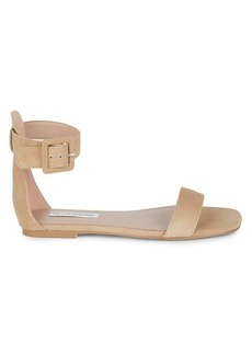 Saks Fifth Avenue Edith Suede Flat Sandals