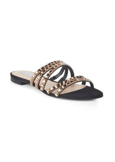 Saks Fifth Avenue Embellished Leather Slides