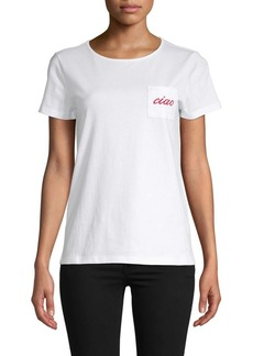 Saks Fifth Avenue Embroidered Pocket T-Shirt