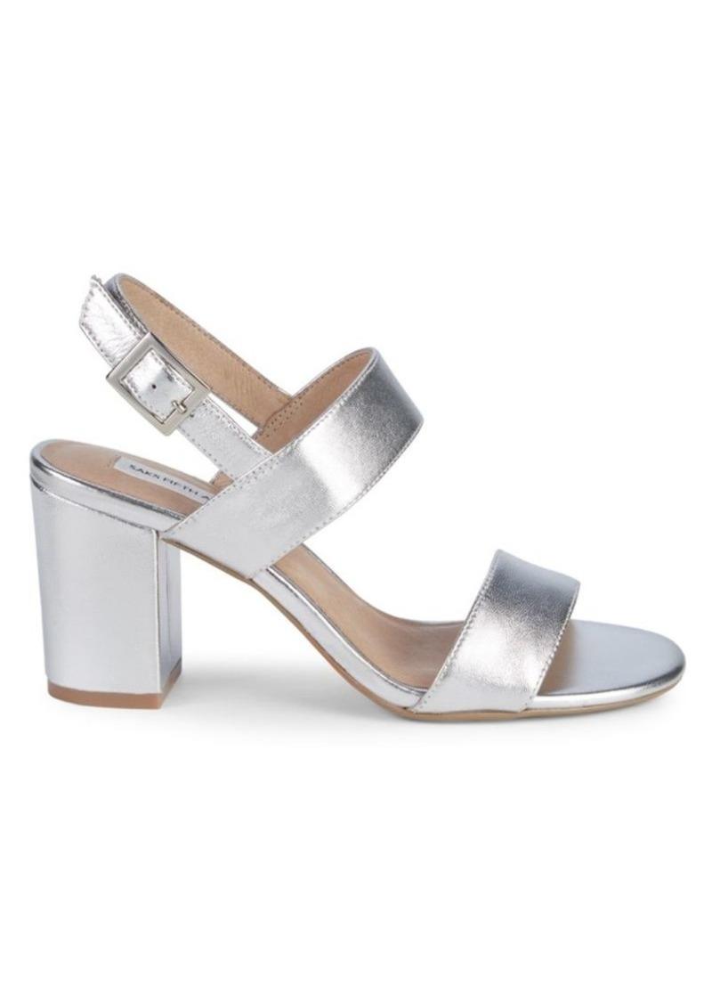 Saks Fifth Avenue Erica Metallic Block Heel Sandals