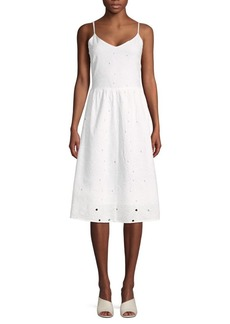 Saks Fifth Avenue Eyelet Fit-&-Flare Sun Dress
