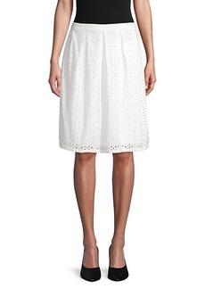 Saks Fifth Avenue Eyelet Flare Skirt