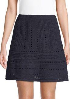 Saks Fifth Avenue Eyelet Flared Skirt