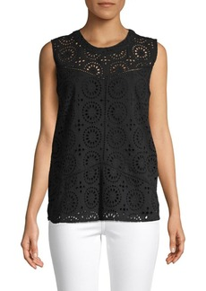 Saks Fifth Avenue Eyelet Shell Top