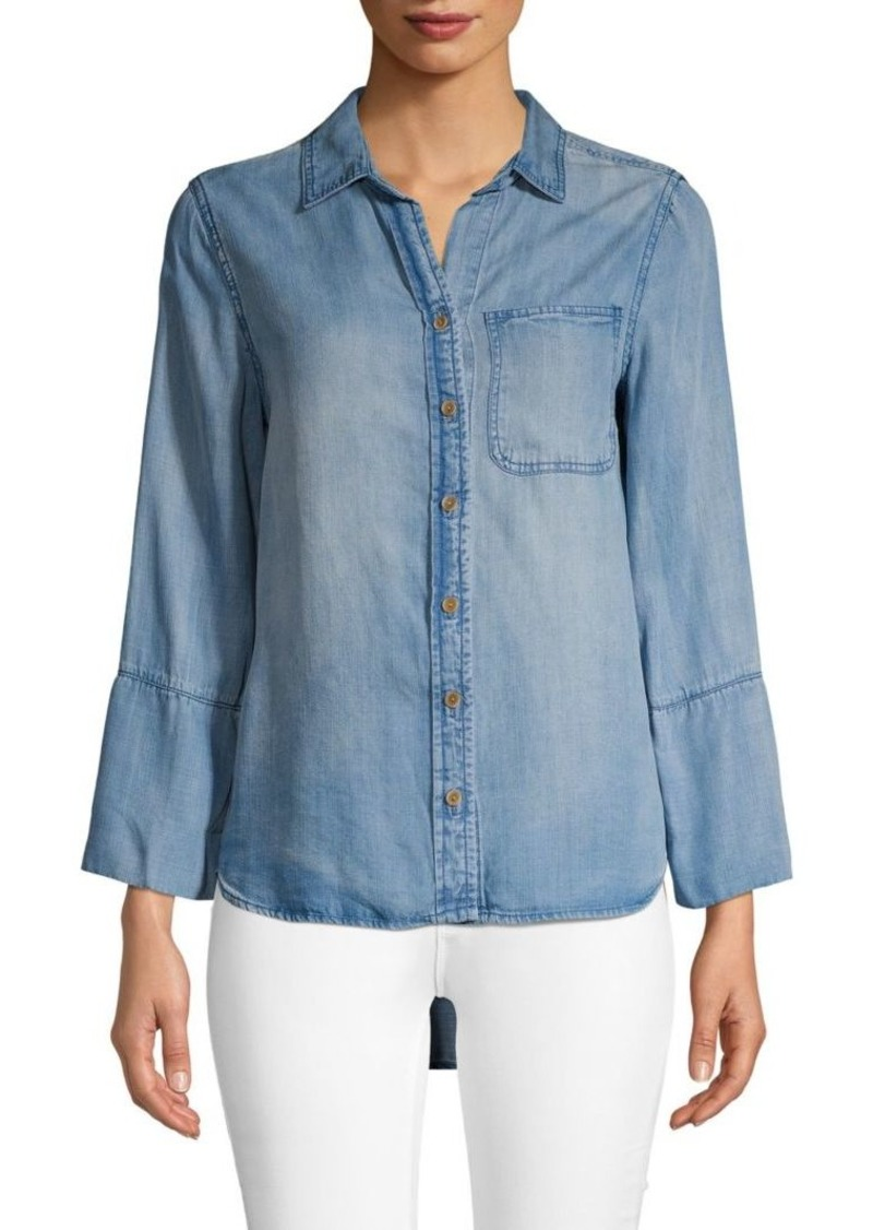 Saks Fifth Avenue Faded Long-Sleeve Top
