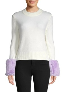 Saks Fifth Avenue Faux Fur Knit Sweater