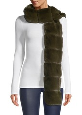 Saks Fifth Avenue Faux Fur Pull-Through Scarf