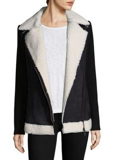 Saks Fifth Avenue Faux-Fur Trimmed Jacket