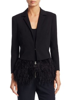 Saks Fifth Avenue Feather Trim Blazer