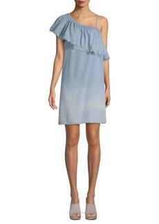 Saks Fifth Avenue Fergie One-Shoulder Ruffled Dress
