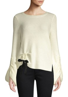 Saks Fifth Avenue Fisherman Cinched Waist Sweater