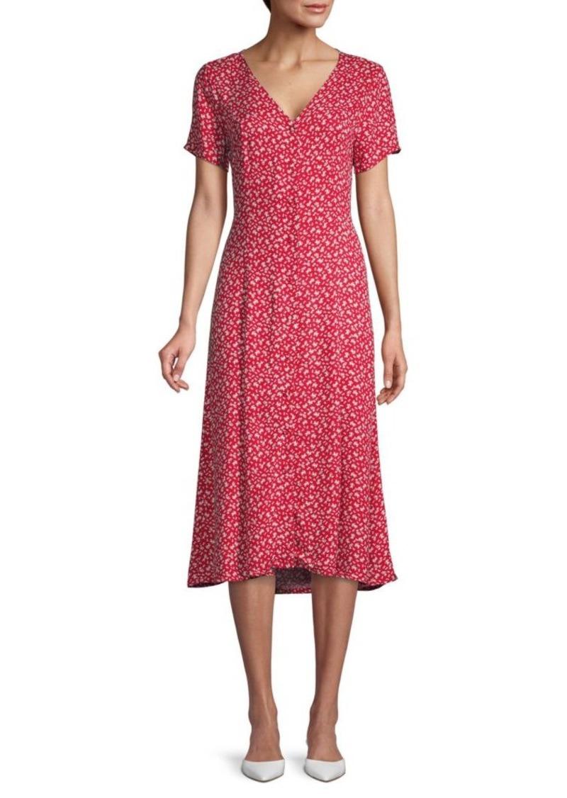 Saks Fifth Avenue Floral Cotton-Blend Button-Front Dress