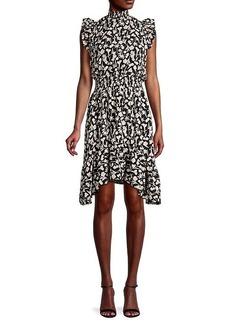 Saks Fifth Avenue Floral Flounce Blouson Dress