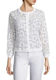 Saks Fifth Avenue Floral Lace Jacket