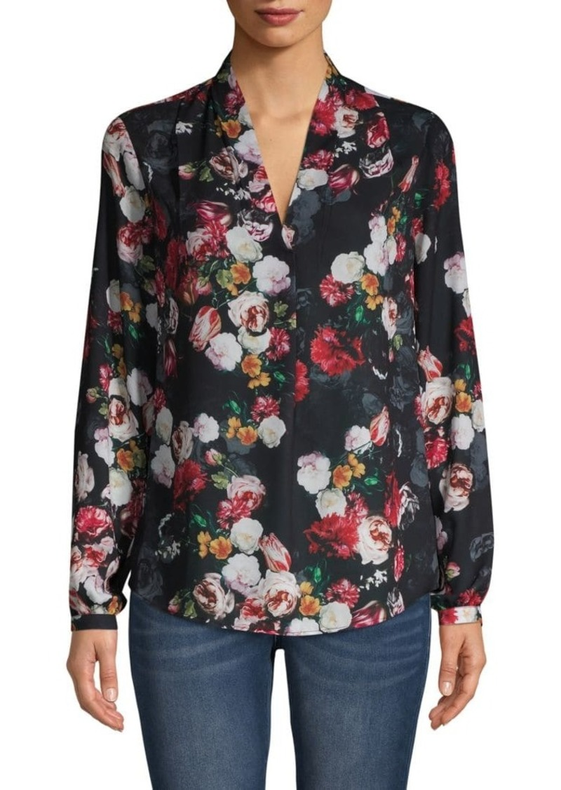 Saks Fifth Avenue Floral-Print Blouse