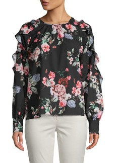Saks Fifth Avenue Floral Ruffle Blouse