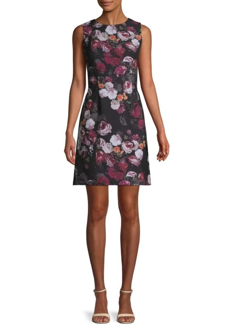 Saks Fifth Avenue Floral Twill Sheath Dress