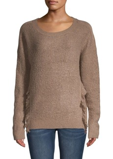 Saks Fifth Avenue Fringed Crewneck Pullover