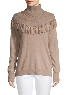 Saks Fifth Avenue Fringed Turtleneck Sweater