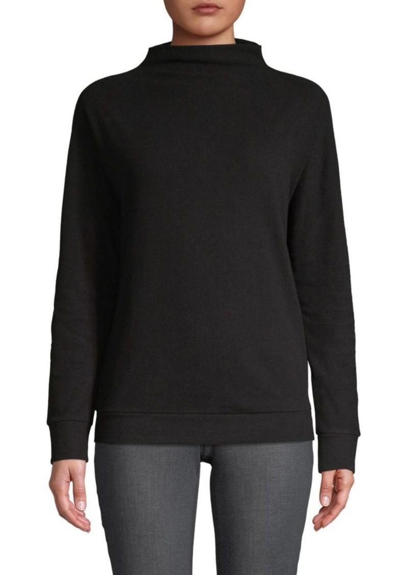 Saks Fifth Avenue Funnelneck Cotton Blend Sweater