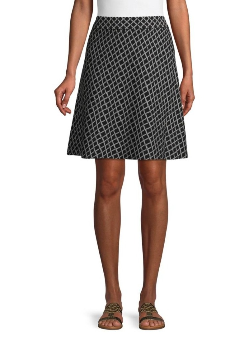 Saks Fifth Avenue Geometric-Print Cotton Blend A-Line Skirt