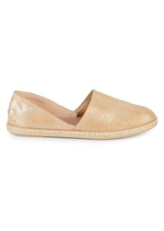 Saks Fifth Avenue Glittler Leather Espadrilles