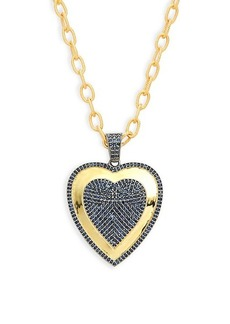 Saks Fifth Avenue Goldplated Sterling Silver & Sapphire Pendant Necklace