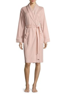 Saks Fifth Avenue COLLECTION Heathered Wrap Cotton Robe