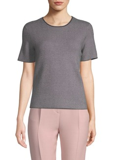 Saks Fifth Avenue Herringbone Short-Sleeve Top