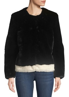 Saks Fifth Avenue Heurueh Faux-Fur Jacket