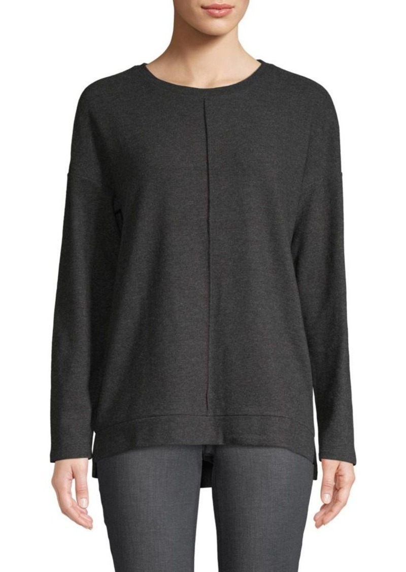 Saks Fifth Avenue High-Low Cotton Blend Sweater