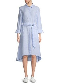 Saks Fifth Avenue High-Low Linen Shirtdress