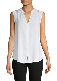 Saks Fifth Avenue ​High-Low Sleeveless Shirt