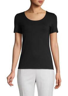 Saks Fifth Avenue Iconic Fit Scoopneck Tee