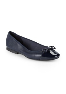 Saks Fifth Avenue Inez Leather Balllet Flats