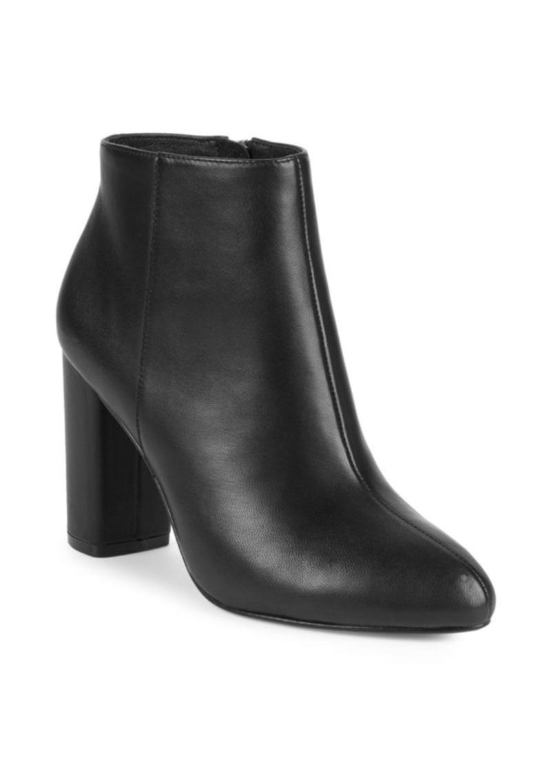 Saks Fifth Avenue Jamie Leather Block Heel Booties