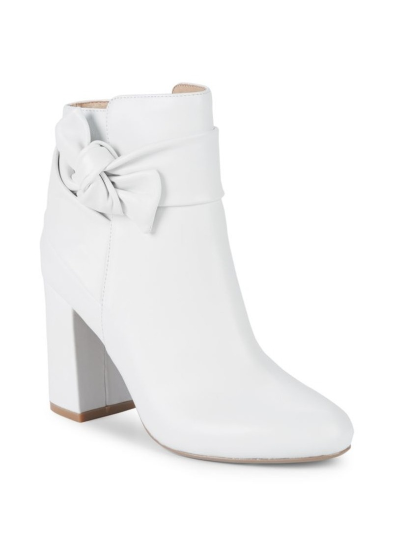 Saks Fifth Avenue Jessa Leather Knot Booties
