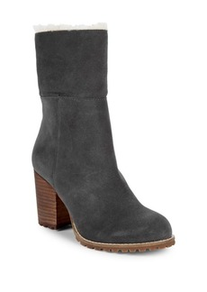 Saks Fifth Avenue Jovie Faux Fur Trim Suede Boots