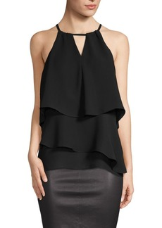 Saks Fifth Avenue Keyhole Tiered Tank Blouse