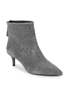 Saks Fifth Avenue Kitten Heel Back Zip Booties