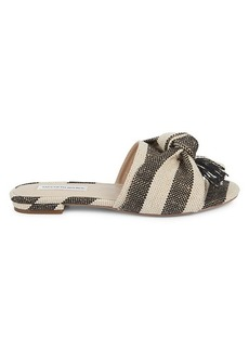 Saks Fifth Avenue Knotted Canvas Slides