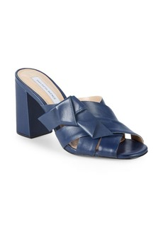 Saks Fifth Avenue Knotted Leather Mules